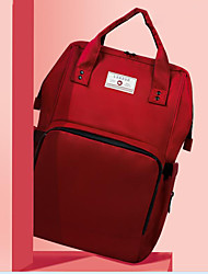 رخيصةأون -البوليستر حقيبة حفاضات سحاب أحمر / أزرق سماوي