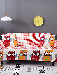 cheap -Sofa Cover High Stretch Owl Printed Soft Elastic Polyester Slipcovers