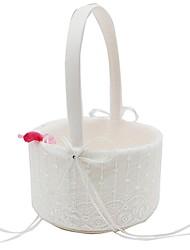 "halpa -Flower Basket Pitsi 9 1/2"" (24 cm) Ruseteilla / Rusetti(rusetit) / Nauhat 1 pcs"