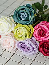 رخيصةأون -زهور اصطناعية 5 فرع كلاسيكي الزفاف Wedding Flowers الورود الزهور الخالدة أزهار الطاولة