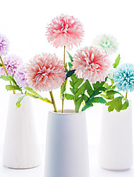 Χαμηλού Κόστους -Ψεύτικα λουλούδια 2 Κλαδί Κλασσικό Γάμος Λουλούδια Γάμου Ορτανσίες Φυτά Αιώνια Λουλούδια Λουλούδι για Τραπέζι