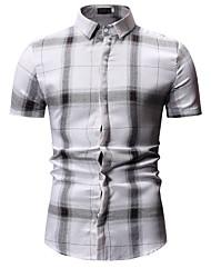 رخيصةأون -قميص الرجل النحيف - قميص طوق منقوشة