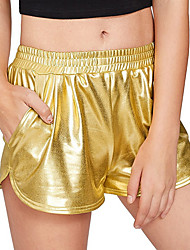 economico -Per donna Pantaloncini Pantaloni - Tinta unita Argento