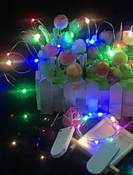 baratos -2m Cordões de Luzes 20 LEDs 2 x linha de conexão USB Vermelho / Azul / Amarelo Impermeável / Festa / Decorativa 5 V 10pçs