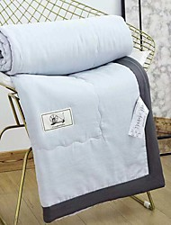 baratos -Confortável - 1 Cobertura de Cama Primavera / Verão Algodão Sólido / Estampa Colorida / Simples