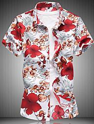 お買い得  -メンズプラスサイズのスリムシャツ - グラフィッククラシックカラー