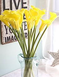 abordables -Fleurs artificielles 1 Une succursale Simple Moderne contemporain Style Simple Calla Lily Fleur de Table