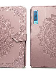 ieftine -Maska Pentru Samsung Galaxy A7 (2018) Titluar Card / Întoarce Carcasă Telefon Mată Greu PU piele pentru Galaxy A7(2018)