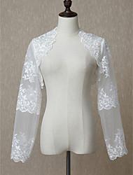 ราคาถูก -แขนยาว ลูกไม้ / Tulle งานแต่งงาน Women's Wrap กับ เข็มกลัด Boleros