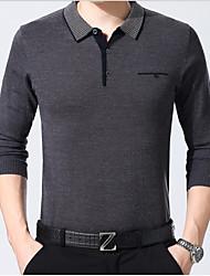 preiswerte -Herrn Solide T-shirt