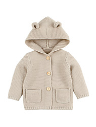 preiswerte -Baby Mädchen Grundlegend Solide Gerüscht Standard Acryl Anzug & Blazer Khaki