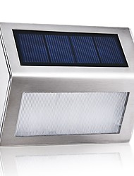 رخيصةأون -1PC 1 W ضوء الجدار الشمسي ضد الماء / الطاقة الشمسية / ديكور أبيض دافئ / أبيض 2 V إضاءة خارجية / فناء / الحديقة 3 الخرز LED