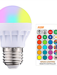 Недорогие -1шт 3w 200-250lm rgbw e27 светодиодные лампы светодиодные rgb светодиодные лампы с пультом дистанционного управления с поп-лампой с изменением цвета 16 цветов с изменением светодиодных ламп трубок ac8