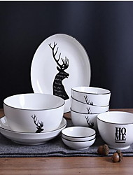 cheap -1 set Serving Dishes Dinnerware Porcelain New Design Creative