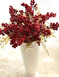 abordables -Fleurs artificielles 5 Une succursale Classique Européen style pastoral Fruit Fleurs éternelles Fleur de Table