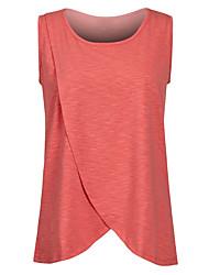 tanie -T-shirt Damskie Patchwork Solidne kolory Granatowy XXXL