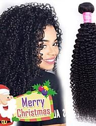 Недорогие -4 Связки Бразильские волосы Kinky Curly человеческие волосы Remy Человека ткет Волосы Пучок волос One Pack Solution 8-28inch Естественный цвет Ткет человеческих волос Простой Без запаха Модный дизайн