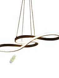 hesapli -Electrodeless karartma modern stil nota şekli led kolye ışıkları silika jel gölge alüminyum oturma odası yemek odası