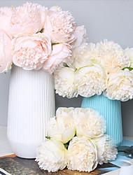 Недорогие -Искусственные Цветы 1 Филиал Классический Свадьба Свадебные цветы Пионы Вечные цветы Букеты на стол