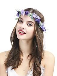 Недорогие -Синтетика / Ткань ободки / Аксессуары для волос с Цветы 1 шт. Свадьба / Особые случаи Заставка