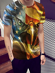 cheap -Men's T-shirt - Color Block / Animal Print