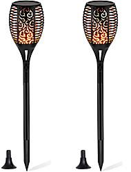 abordables -YouOKLight 2pcs 1 W Lampe murale solaire Solaire / Contrôle de la lumière Jaune chaud 3.7 V Cour / Jardin 96 Perles LED