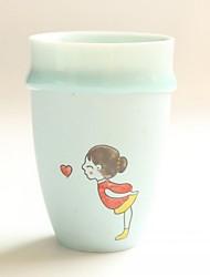hesapli -drinkware Kupalar ve Bardaklar Porselen Taşınabilir / girlfriend Hediye Günlük / Sade