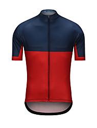 Недорогие -Муж. С короткими рукавами Велокофты Красный + синий Велоспорт Джерси Верхняя часть Виды спорта Терилен Одежда / Эластичность