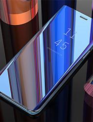 Недорогие -Кейс для Назначение SSamsung Galaxy Galaxy S10 / Galaxy S10 Plus / Galaxy S10 E Зеркальная поверхность / Флип / Авто Режим сна / Пробуждение Кейс на заднюю панель Однотонный Твердый Кожа PU