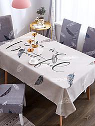 tanie -Klasyczny Casual 120g / m2 Poliester Stretch Knit Skóra krokodyla Kwadrat Obrus Wzory Drukowanie Wodoszczelny Kwiat Dekoracje stołowe