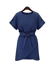 זול -מיני של נשים שמלה קו כחול x xl xxl xxxx xxxl xxl