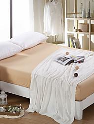 Χαμηλού Κόστους -Πολύ λειτουργικές κουβέρτες, Μονόχρωμο Πλεκτό / Βαμβάκι Θερμαντικό Μαλακό Comfy κουβέρτες