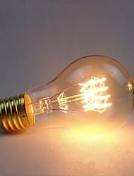 رخيصةأون -1PC 40 W E26 / E27 أصفر الجسم شفافة المتوهجة خمر اديسون ضوء لمبة 220-240 V
