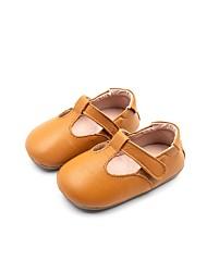 halpa -Tyttöjen Kengät Mikrokuitu Syksy Comfort / Ensikengät Tasapohjakengät varten Vauvat Musta / Beesi / Keltainen
