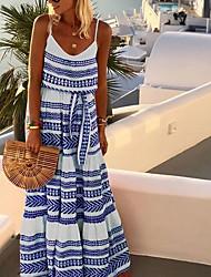 billige -kvinners midi tunika kjole stropp rød svart blå s m l xl