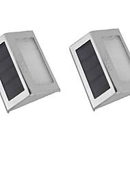 Недорогие -2pcs 0.2 W Солнечный свет стены Управление освещением Тёплый белый 1.2 V двор / Сад 2 Светодиодные бусины