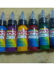 abordables -Trustfire Encre de tatouage 7 x 30 ml Niveau professionnel / Sécurité - Rouge / Noir / Bleu
