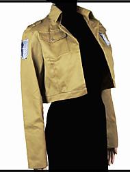 Недорогие -Вдохновлен Атака титанов Mikasa Ackermann Аниме Косплэй костюмы Японский Косплей вершины / дна Особый дизайн Кофты Назначение Универсальные