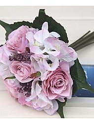 halpa -Keinotekoinen Flowers 1 haara Klassinen Häät Hääkukat Ruusut Hortensiat Eternal Flowers Pöytäkukka