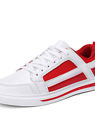 cheap -Men's Comfort Shoes PU(Polyurethane) Spring & Summer Casual Sneakers Walking Shoes Wear Proof White / Black and White / Red