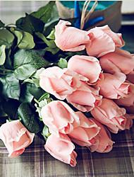 abordables -Fleurs artificielles 5 Une succursale Classique Mariage Style Simple Roses Fleurs éternelles Fleur de Table