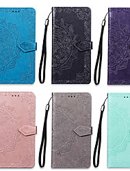 cheap -Case For Xiaomi Redmi Note 7 Wallet / Card Holder / with Stand Full Body Cases Mandala Hard PU Leather for Redmi Note 7