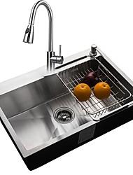 Недорогие -Kitchen Sink- 304 Нержавеющая сталь Прямоугольный Undermount Одиночная чаша