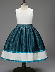 رخيصةأون -فستان بدون كم لون سادة للفتيات أطفال