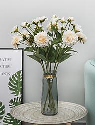 abordables -Fleurs artificielles 2 Une succursale Classique Traditionnel / Classique Européen Pivoines Fleurs éternelles Fleur de Table
