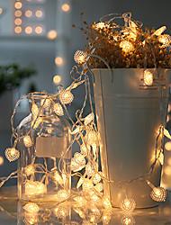 povoljno -3m 20 leds vodio u obliku srca svjetla niz treperi svjetla mala svjetla soba ukrasna svjetla kreativni spavaonica spavaća soba romantični aranžman