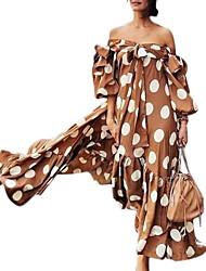 Недорогие -Жен. С летящей юбкой Платье С открытыми плечами Макси