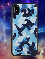 baratos -Capinha Para Apple iPhone X / iPhone XR Estampada Capa traseira Côr Camuflagem Macia TPU para iPhone XR / iPhone X