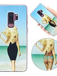 Недорогие -Кейс для Назначение SSamsung Galaxy S9 Plus / S9 Защита от удара / Движущаяся жидкость / Ультратонкий Кейс на заднюю панель Соблазнительная девушка Мягкий ТПУ для S9 / S9 Plus