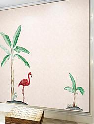 olcso -Falfestmény / Falszövet Nem szőtt Falburkolat - ragasztószükséglet Fák / levelek / Art Deco / 3D